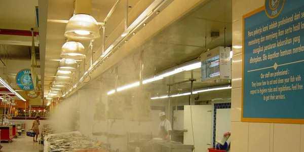 hệ thống phun sương sử dụng nước như thế nào