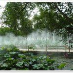 Hệ thống phun sương làm mát khu sinh thái Cọ Xanh